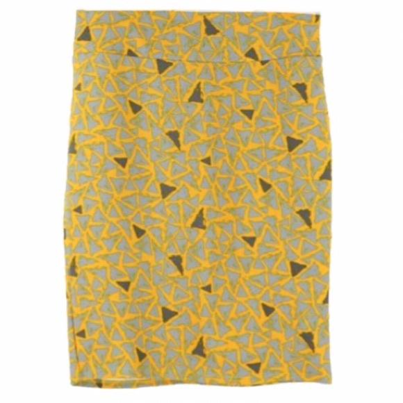 LuLaRoe Dresses & Skirts - 🔴LAST CALL🔴 LuLaRoe Yellow Triangle Cassie Skirt